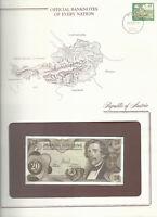 Banknotes of Every Nation Austria 20 Shilling  1967 UNC P 142 Prefix P