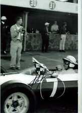 John Surtees Nart Ferrari 158 mexicano Grand Prix 1964 Firmado fotografía