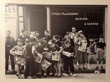 PHOTO L'EQUIPE 13 JUILLET 1939 TOUR DE FRANCE PLEYBEN LES SPECTATEURS ATTENDENT