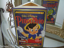 Walt Disney's 1947 Pinocchio 60th anniversary promotional display superb shape!