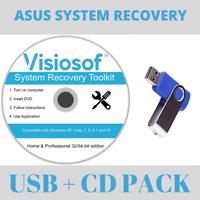 ASUS System Recovery Boot Repair Restore Reset CD USB Windows 10 8 7 Vista XP