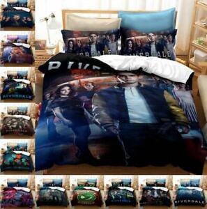 2Pcs Bedding Set RIVERDALE Quilt Duvet Cover Pillowcase Single Double King Size