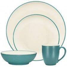 Noritake Colorwave Turquoise Coupe 48Pc Dinnerware Set, Service for 12