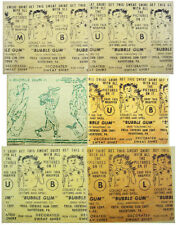 Rare 1940s/50's Philadelphia Gum Bubble Gum Wax Inserts Transfer Sheet & Premium
