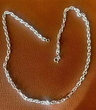 Cadena plata de ley maciza 0,925. Solid sterling silver. 20,1 gramos