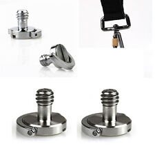 "1/4"" Captive D-Ring Screw For Camera Tripod Monopod Quick Release Shoulder Strap"