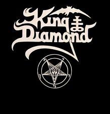 KING DIAMOND cd lgo WHITE PENTAGRAM LOGO Official SHIRT LRG New mercyful fate