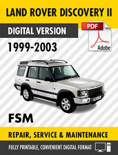 1999 - 2003 LAND ROVER DISCOVERY 2 II FACTORY SERVICE REPAIR MANUAL WORKSHOP OEM