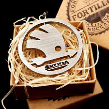 Skoda stainless steel keychain (perfect gift)