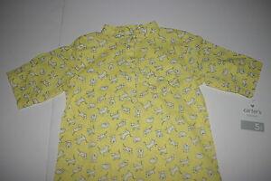 CARTER'S Playwear Girls Yellow White Cats Kittens Tunic Top Shirt 5 5T NEW NWT