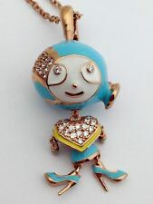 "Lauren G Adams Bubble Kids Pave Girl Necklace, 36"" Chain, N-73402R, New"
