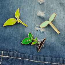 Enamel Brooch Collar Badge Trinkets Qk Creative Leaves Plant Tree Lapel Pins