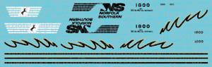 HO Scale - Norfolk Southern SD70ACC #1800 Decal Set