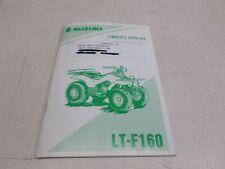 Used 1995/1996 Suzuki Lt-F160 Owner'S Manual Part# 99011-02C66-03A