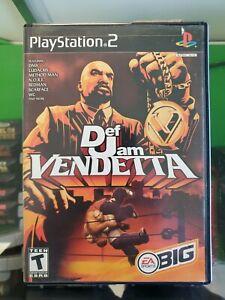 Def Jam Vendetta Sony PlayStation 2 PS2 Black Label Complete CIB