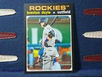 2020 Topps Heritage Minor League #7 Brenton Doyle - Rockies