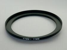 Adaptador paso 67mm-77mm anillo de refuerzo 67 a 77 67-77 Step Up Anillo