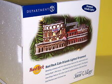 "DEPT 56 ""HARD ROCK CAFE ORLANDO LIGHTED ORNAMENT"" NIB"