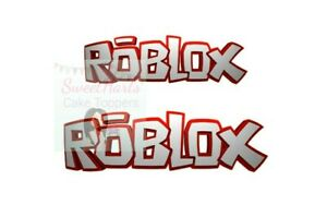 ROBLOX LOGO X2 CAKE TOPPER EDIBLE ICING PRINT CAKE DECORATIONS FAST POST