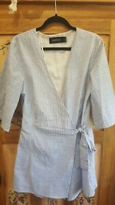 Lovely MINKPINK ladies striped wrap over shorts playsuit (size small)