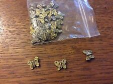 Gold tone butterfly spacer beads approx 10mm x 30