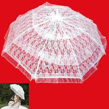 Ombrello Sposa Bianco Pizzo Wedding Matrimonio Ombrellino Decorazioni 78 Cm 857