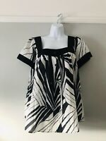 Jaeger Cotton Top Black And White Very Pretty Approx Size 14-16