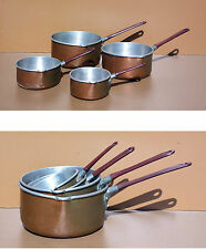 Ancienne série 4 casseroles alu cuivré old set of 4 pans aluminum copper