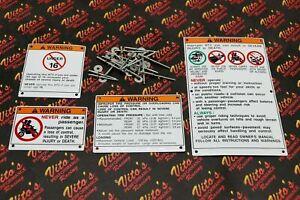 Yamaha warning decals stickers labels ALUMINUM BACKED Raptor Blaster BANSHEE