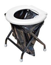 Yachticon Klapptoilette weiß mit 30 Beuteln mobile Toilette für Garten & Camping