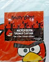 """Kids Bathroom-Angry Birds Fabric Shower Curtain, 72"""" x 72,"""" Brand New in Package"""