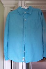 Janie and Jack Marine Explorer size 5 teal shirt and stripped shorts (linen)