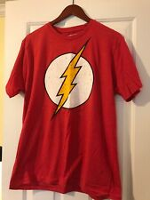 DC Comics The Flash T Shirt, Red, Size Large