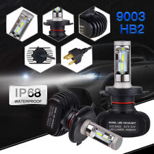 2PCS IP68 H4 9003 HB2 LED Headlight Bulbs Light CSP 50W 8000LM Hi/Lo Beam 6500K