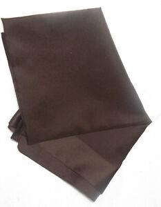 """ANTONIO BOSSELI Vintage Brown Pocket Square Handkerchief 26x26"""" Made in Italy"""