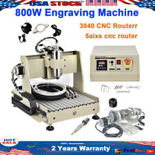 Usb 5 Axis Cnc Router 3040 Engraver 800W Engraving Drilling Mill Machine Diy