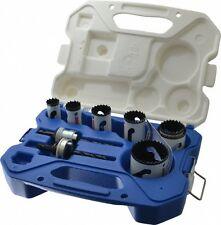 Lenox Tool Hole Saw Kit Bi-Metal Storage Case Set 9 Pc Plumbers Electrician's