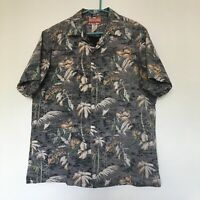RJC Hawaiian Shirt Inside Out Tropical 100% Cotton Men's XL Made In Hawaii USA