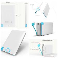 Ultra Thin Card Portable Mobile External Battery Power Bank 2000mAh