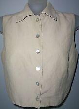 """FINITY"" Wm's size 8 Beige Button Down Career/Dress/Casual Vest in EUC"
