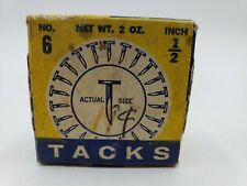 Holland TACKS Vintage 1/2 inch Round Flat Head #6