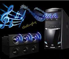 """5.25"""" PC Front Panel Stereo Speaker Computer Case Music Loudspeaker Built-in Mic"""