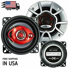 """New Soundxtreme 4"""" in 3-Way 220 Watts Coaxial Car Speakers CEA Rated (Pair)"""