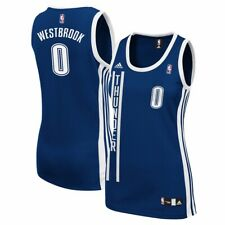 Russell Westbrook Oklahoma City Thunder Navy Alternate Replica Women's Jersey