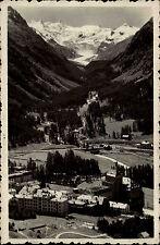 Pontresina Schweiz Graubünden AK 1930 Stadtansicht mit Alpen Berge Verlag Finzi