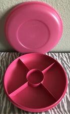 Tupperware Small Jr.  Serving Center Pink New