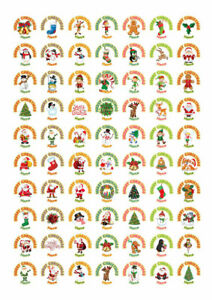 140 Personalised Merry Christmas Happy New Year Stickers Labels Santa presents