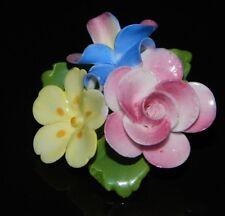 VTG CARA CHINA STAFFORDSHIRE Porcelain Flower Cluster Pin Brooch