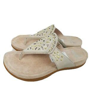 Dansko women sandals leather thong flip flop embellished slide Benita 6 36 new