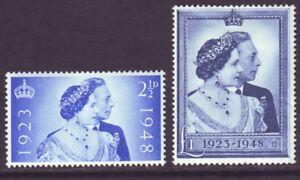 Great Britain 1948 SC 493-494 MH Set Silver Wedding